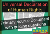 Universal Declaration of Human Rights (United Nations 1948) Primary Source w Qs