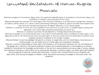 Universal Declaration of Human Rights [simplified]