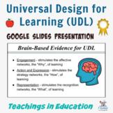 Universal Design for Learning: Editable Presentation