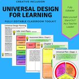 Universal Design for Learning - Fully Editable Planning Te