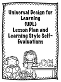 Universal Design for Learning Lesson Plan and Learning Style Self-Evaluations