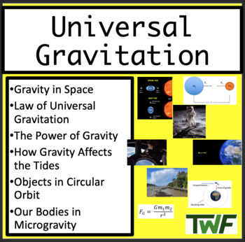 Universal Gravitation - Physics PowerPoint Lesson Package with Student Notes