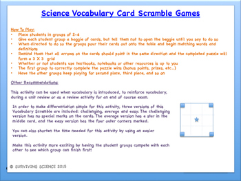 Universal Gravitation: Physics Vocabulary Scramble Game