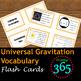 Universal Gravitation Vocabulary Unit Bundle