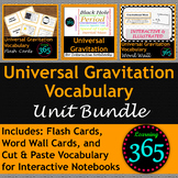 Universal Gravitation Vocabulary Unit Bundle