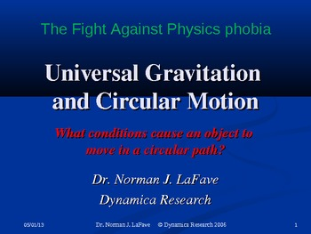 Universal Gravitation and Circular Motion