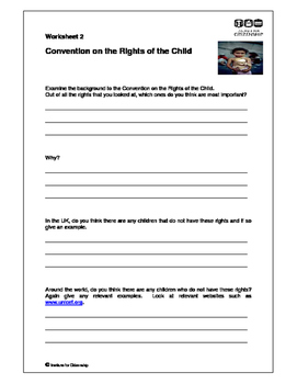 Universal Human Rights of the Child work package