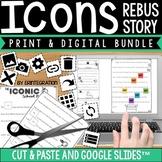 Universal Icons Rebus Story:  Unplugged & Digital Version BUNDLE