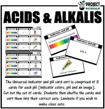 Universal Indicator and pH Card Sort