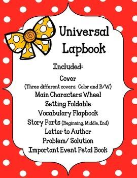 Universal Lapbook. Generic. Use for ANY Novel.