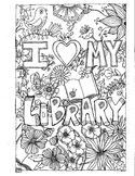 Universal Library Coloring Page