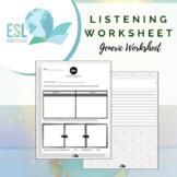 Generic / Weekly Listening Worksheet (Fillable PDF)