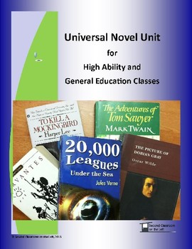 Universal Mixed Ability Classroom Novel Unit