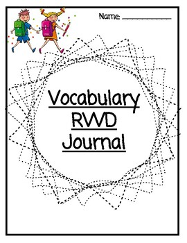 Universal Modified Four Square Vocabulary Journal **NEW PRODUCT!**