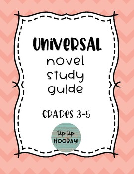 Universal Novel Study Guide for Any Book (Book Clubs or Literature Circles)