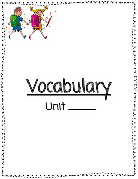 Universal Read Write Draw Vocabulary Journal