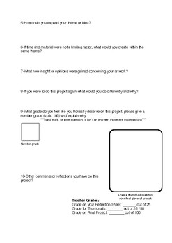 Universal Reflection Sheet and Rubric