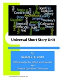Universal Short Story Unit, for Gifted/Talented and Genera