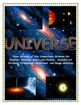 Universe: Outer Space: Note Organizer (Planets, Stars, Galaxies, and a Universe)