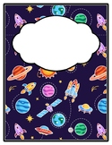Universe Space Galaxy Binder Cover and Spines, Back to School
