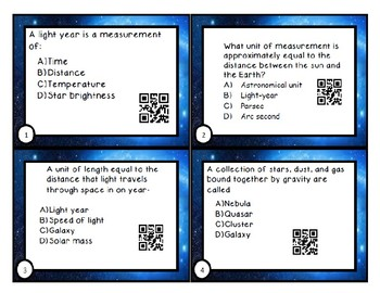 Universe Task Cards- including stars, galaxies, and the HR diagram