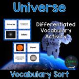 Universe Vocabulary Sort