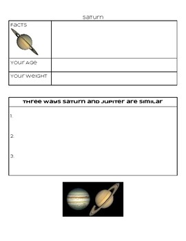 Universe and Planets Activity Packet