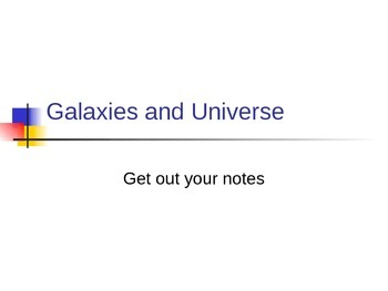 Universe and Star Notes Powerpoint