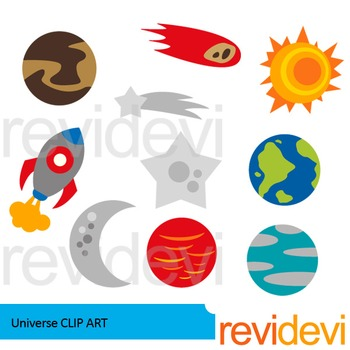 Universe clip art - space and planets