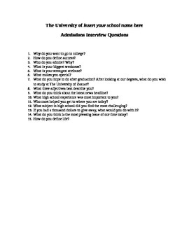 University Admissions Interview Questions and Answers Descriptions