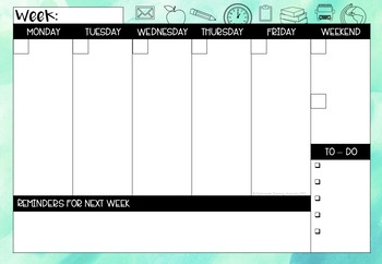 University Semester Planner - 'Be-leaf in Yourself'