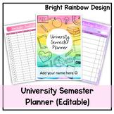 University Semester Planner   Rainbow   Undated