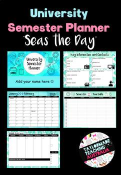 University Semester Planner - 'Seas the Day'
