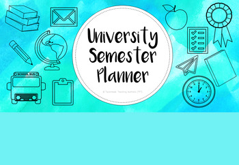 University Semester Planner - 'Seas the Day'