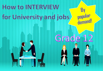 University entrance interview and job interview psychology PowerPoint / w/s+game