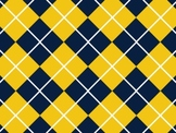 University of Michigan Blue and Gold Inspired Digital Backgrounds