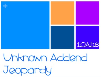 Unknown Addend Jeopardy