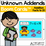 Unknown Addends Addition Facts to 20 BOOM CARDS