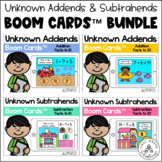 Unknown Addends and Subtrahends BOOM CARDS Bundle