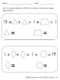 Unknown Addends with Shapes