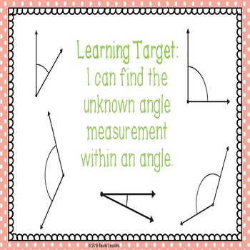 Finding Unknown Angles PowerPoint to Find Missing Angle Measurements 4.MD.7