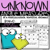 Unknown Angle Measures  |  4-sided Figure