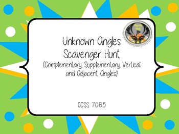 Unknown Angles Scavenger Hunt