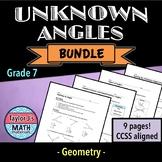 Unknown Angles Worksheet Bundle
