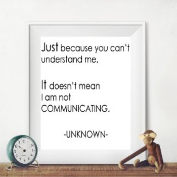 Unknown Author Quote - Printable Poster 8x10
