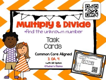 Unknown Factor Task Cards