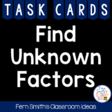 3rd Grade Go Math 5.2 Unknown Factors Cards - Finding Unknown Factors
