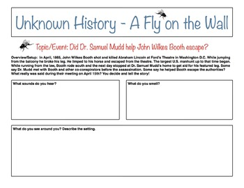 Unknown History - Fly on the Wall - Dr. Mudd and John Wilkes Booth