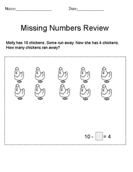 Unknown/Missing Number Review