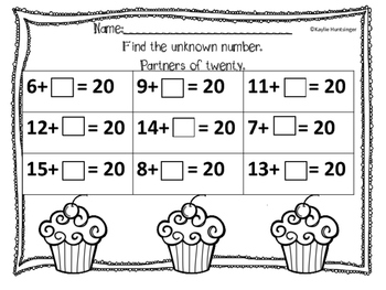 Unknown Number Addition (Word Problems)